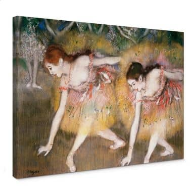 Leinwandbild Degas - Sich verbeugende Ballerinen