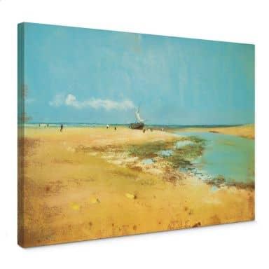 Leinwandbild Degas - Strand bei Ebbe