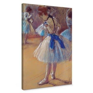 Leinwandbild Degas - Tänzerin beim Binden der Schleife