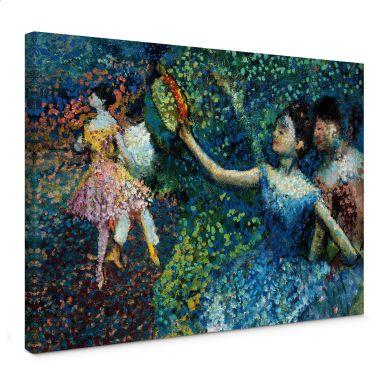 Leinwandbild Degas - Tänzerin mit Tambourin