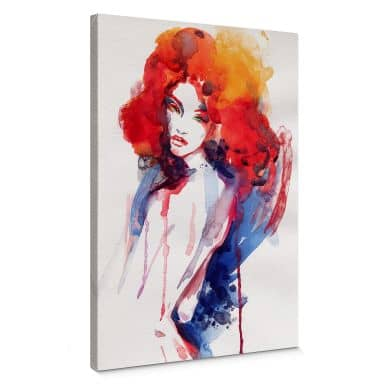 Red-headed Woman Canvas print