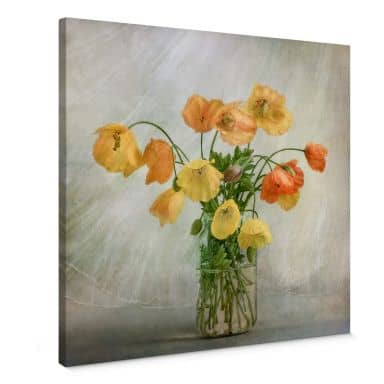 Canvas Print Disher - Poppies in a vase