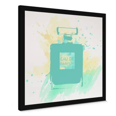Leinwandbild Eau de Parfum Aquarell - Mint