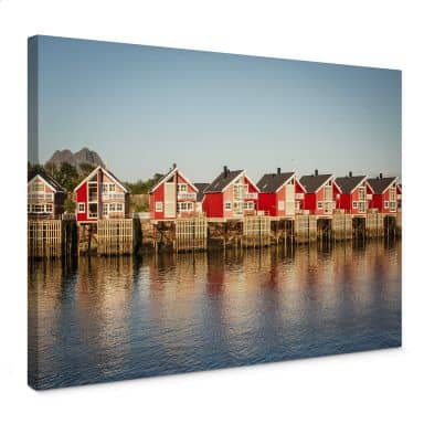 Holiday Houses Canvas print