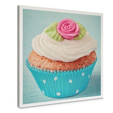 Leinwandbild Sweet Cupcake - quadratisch