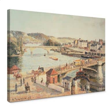 Pissarro - A sunny afternoon in Rouen Canvas print