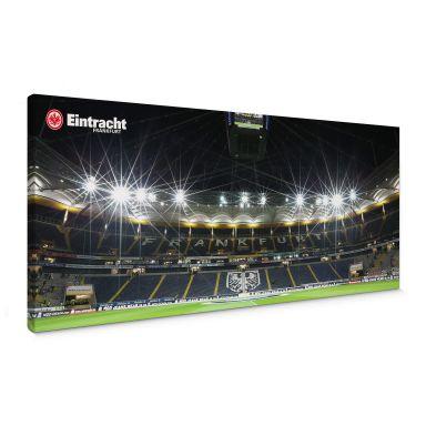 Leinwandbild Eintracht Frankfurt Nacht - Panorama