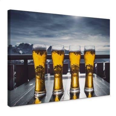 Leinwandbild Eiskaltes Bier