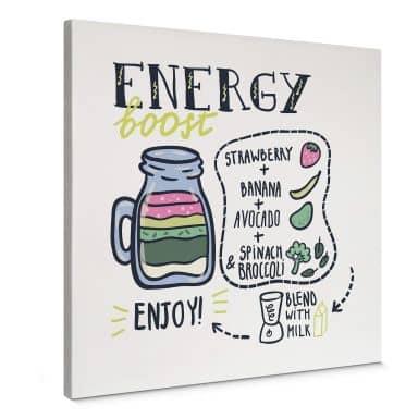 Leinwandbild Energy Boost - quadratisch