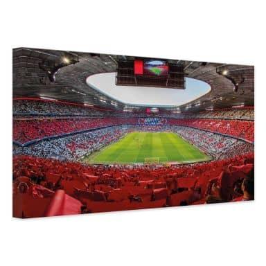 Leinwandbild FCB Stadion Rot Weiß