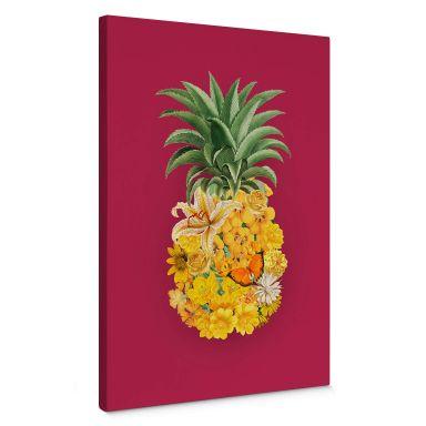 Leinwandbild Pineapple Pink Floral