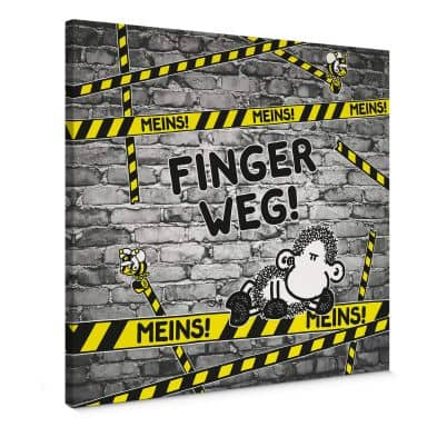 Leinwandbild sheepworld Finger weg! Meins!