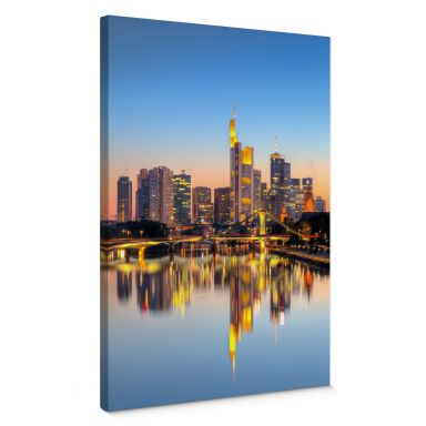 Leinwandbild Frankfurter Lichter