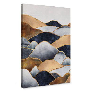 Leinwandbild Fredriksson - Goldene Hügel