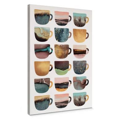 Canvas Print Fredriksson - Pretty Coffee Cups