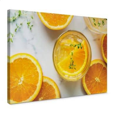 Leinwandbild Frische Orange