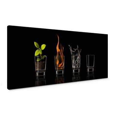 Frutos Vargas - The Four Elements Canvas print panorama