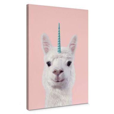 Canvas Print Fuentes - Alpaca Unicorn