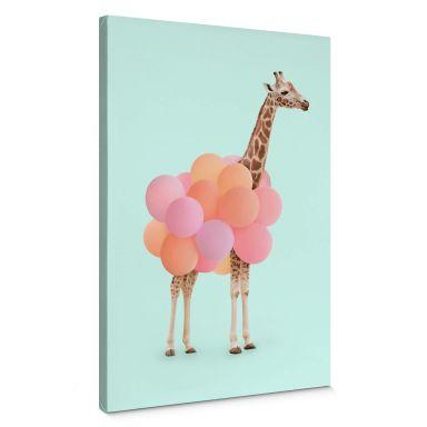 Canvas Print Fuentes - Giraffe & Balloons