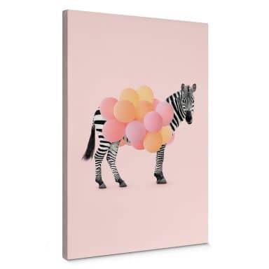 Tableau sur toile Fuentes - Zebra Balloon