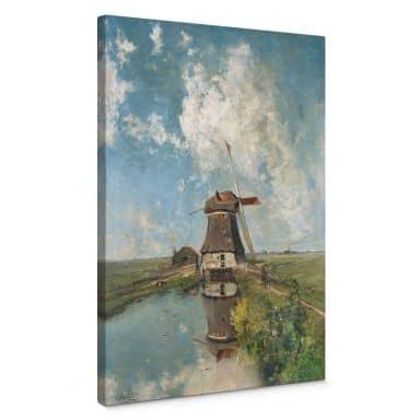 Leinwandbild Gabriël - Windmühle in einem Polder