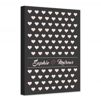 Canvas Print Hearts + Personalisation