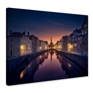 Leinwandbild García - Sunset in Brugge