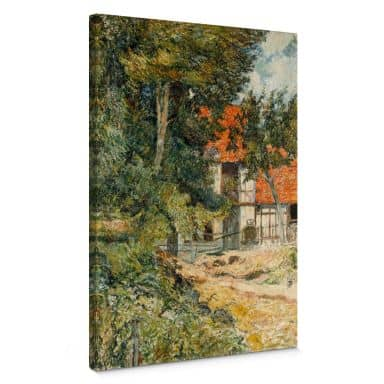 Gauguin - Cottage in Normandy Canvas print