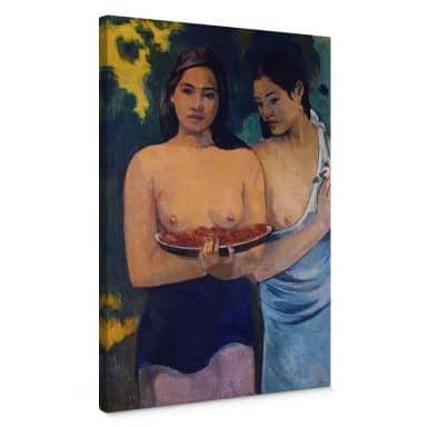 Leinwandbild Gauguin - Zwei Frauen von Tahiti
