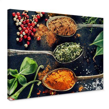 Tableau sur toile Diversité des herbes aromatiques 05