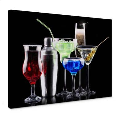 Girly Cocktails Canvas print