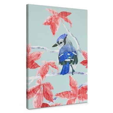 Canvas print Goed Blauw - Ice Bird
