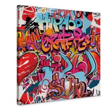 Hip-hop graffiti Canvas print