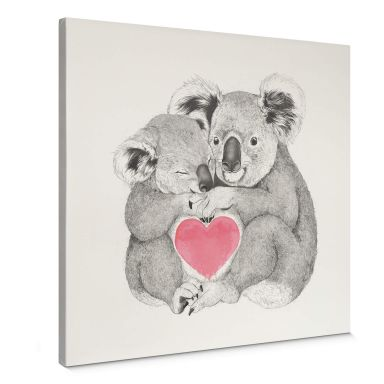 Leinwandbild Graves - Koala loves hugs