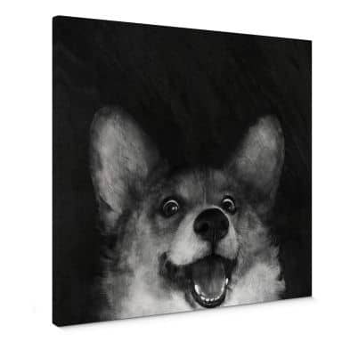 Canvas Print Graves - Sausage Fox Corgi
