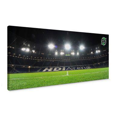 Leinwandbild Hannover 96 - HDI-Arena Nacht - Panorama