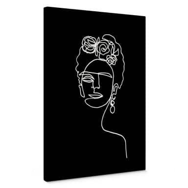 Stampa su tela Hariri - Frida Kahlo nero