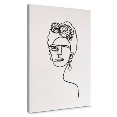 Canvas Print Hariri - Frida Kahlo