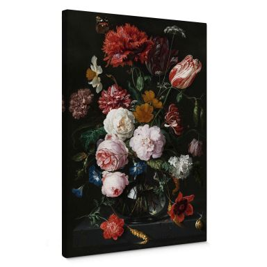Canvas Print de Heem - Flowers in a vase