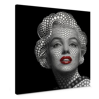 Leinwandbild Ben Heine - Circlism: Marilyn Monroe