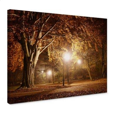 Leinwandbild Herbst im Park