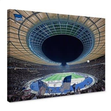 Leinwandbild Hertha BSC - Stadion bei Nacht