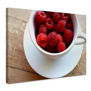Raspberry Dessert Canvas print
