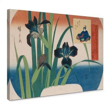 Leinwandbild Hiroshige - Schwertlilien
