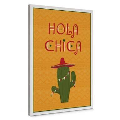 Leinwandbild Hola Chica