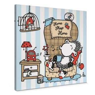 Sheepworld Home Sheep Home - Music Canvas print