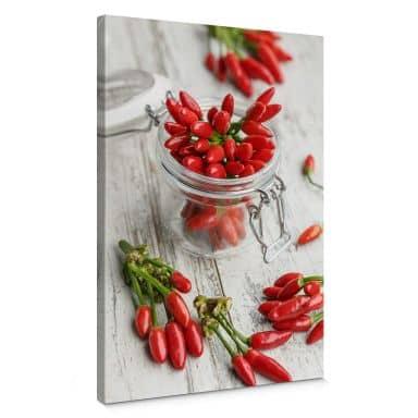 Leinwandbild Hot Chili