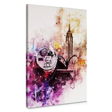Leinwandbild Hugonnard - Watercolour New York View