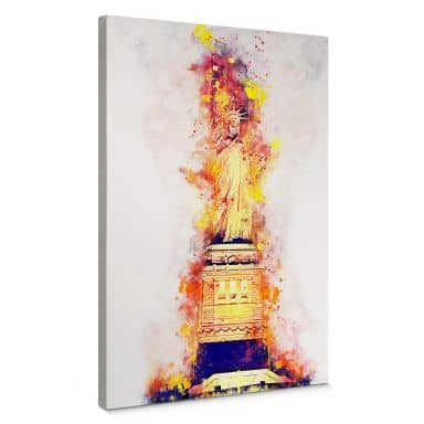 Canvas Hugonnard - Watercolour: Statue of Liberty