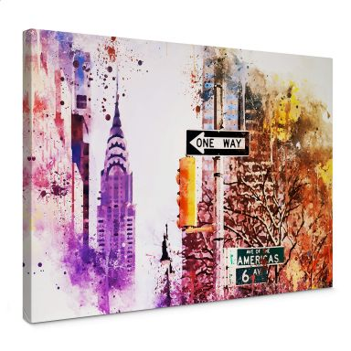 Leinwandbild Hugonnard - Watercolour: The Empire State Building